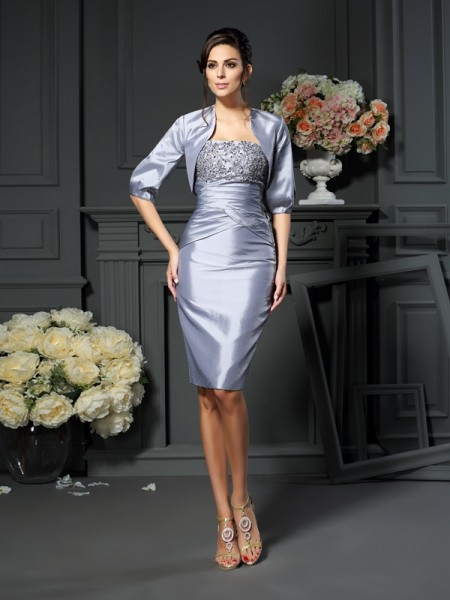 Sheath Sweetheart Short Taffeta Mother of the Bride Dresses