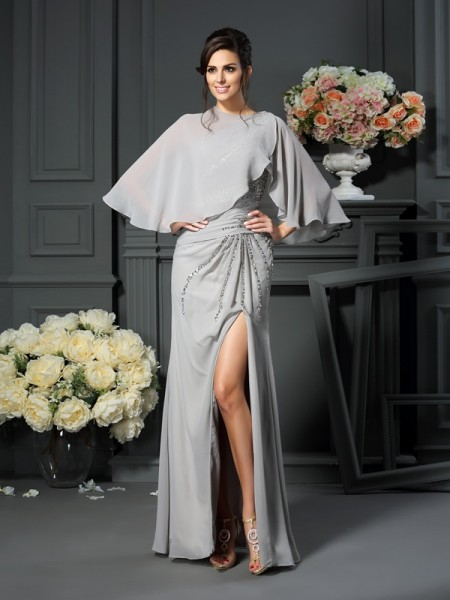 Mermaid One-Shoulder Beading Chiffon Mother of the Bride Dresses