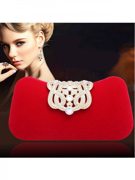 Latest Elegant Rhinestone Pillow Party/Evening Bags