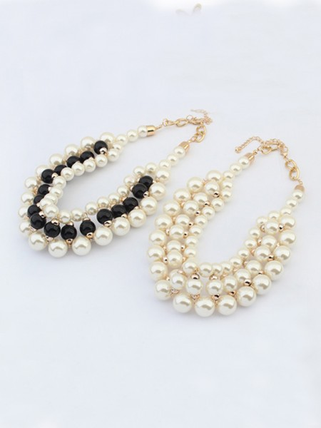 Latest Occident Stylish Imitation pearls Hot Sale Necklace