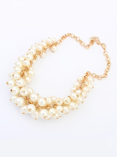 Latest Occident Retro Palace Imitation pearls Hot Sale Necklace