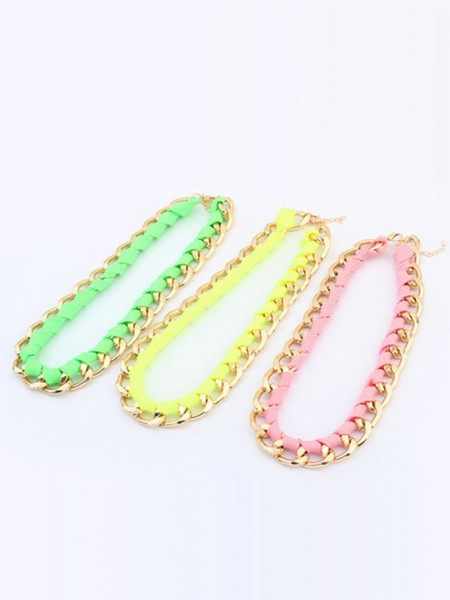 Latest Occident Trendy Major suit Fluorescent colors Hot Sale Necklace