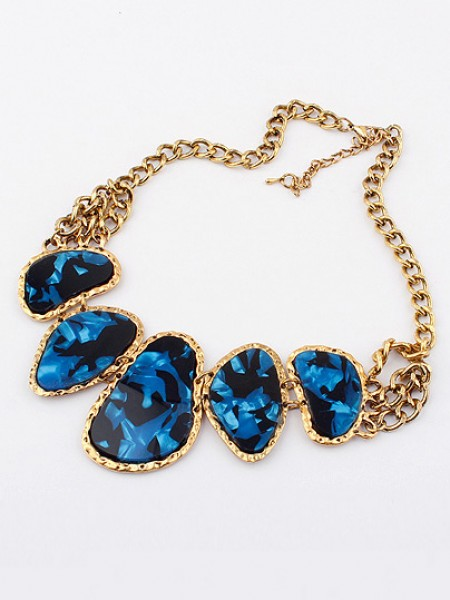 Latest Occident Retro Hyperbolic Colored stones New Stylish Hot Sale Necklace