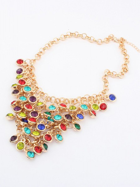 Latest Korean version Colorful wafer curtain Stylish Hot Sale Necklace