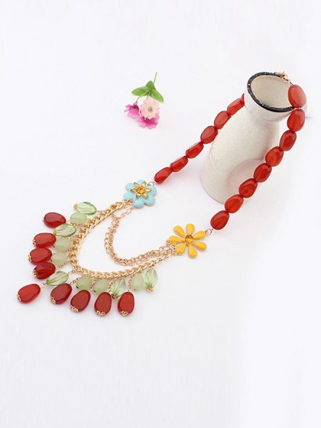Latest Occident Beautiful woman Stylish Jade Hot Sale Necklace