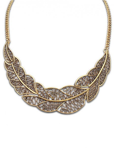 Latest Occident Foreign orders Simple Hollow Tree leaf Hot Sale Necklace