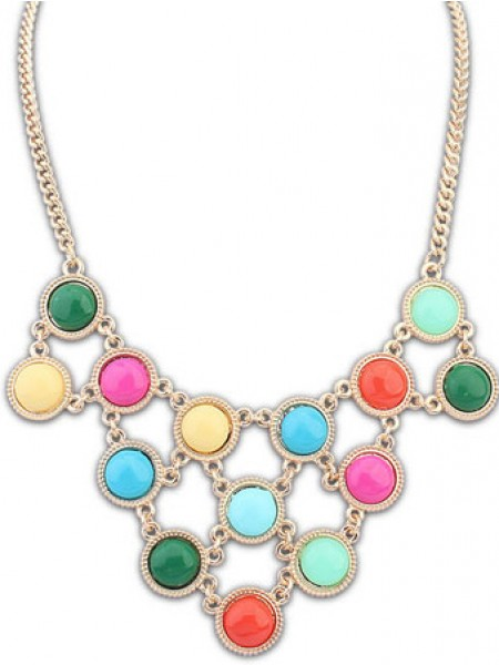 Latest Occident Candy colors Sweet multi-layered Hot Sale Necklace