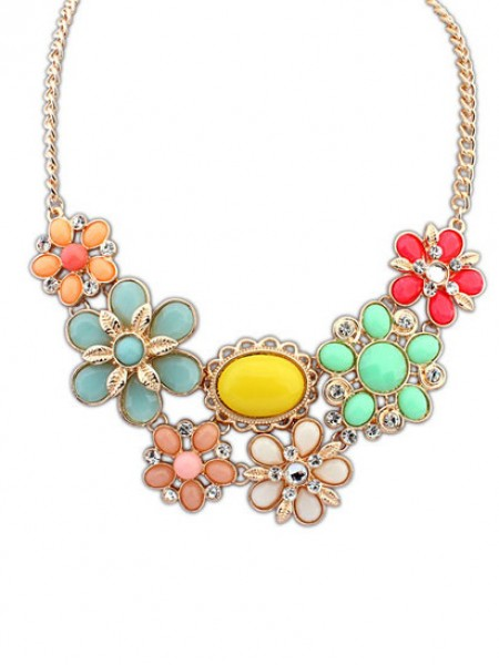 Latest Occident Bohemia Style Big Flower Hot Sale Necklace