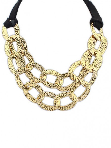 Latest Occident Hyperbolic Metallic Hollow Personality Hot Sale Necklace