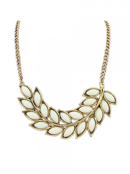 Latest Occident New Bohemia Tree leaf Hot Sale Necklace