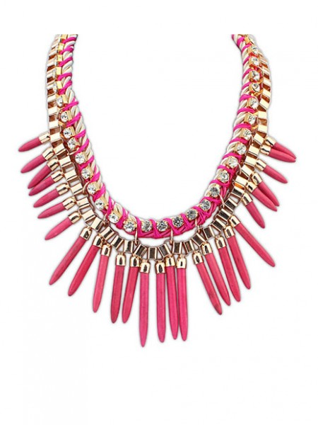 Latest Occident Hyperbolic Personality Punk Street shooting Hot Sale Necklace