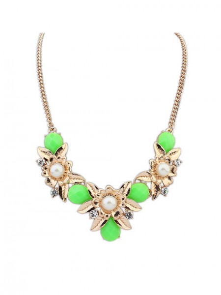 Latest Occident Bohemia Geometry Flowers Hot Sale Necklace