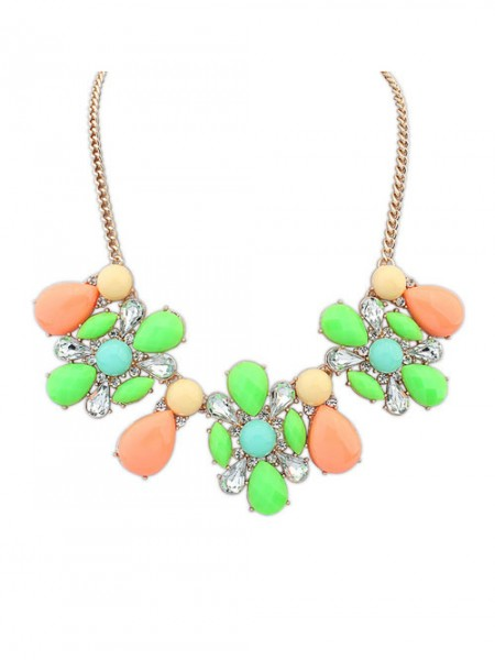 Latest Occident Street shooting Collision color Exquisite Simple Hot Sale Necklace