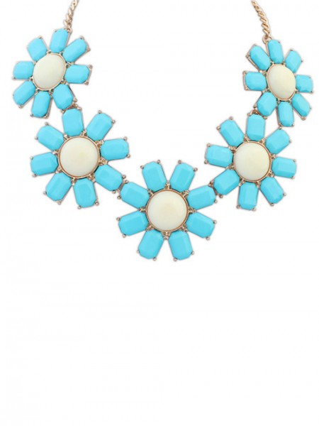 Latest Occident Bohemia Flowers Hot Sale Necklace