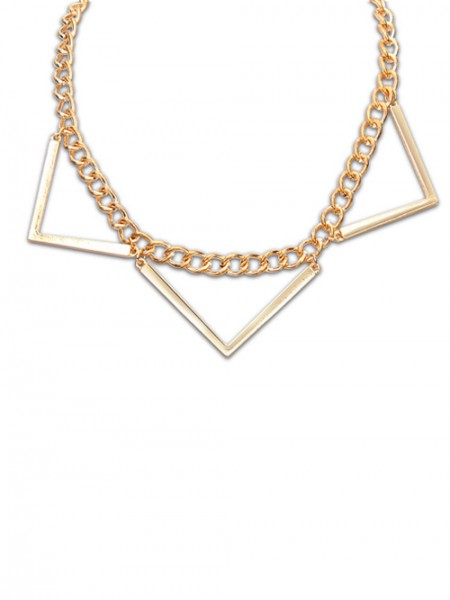 Latest Occident Hyperbolic Punk Triangle Geometry Hot Sale Necklace