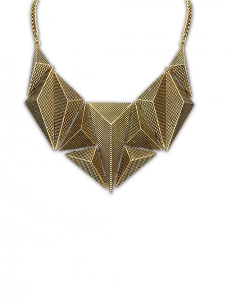 Latest Occident Hyperbolic Metallic Dimensional Geometry Hot Sale Necklace
