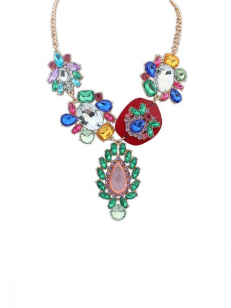 Latest Occident Gorgeous Multicolor Trendy Hot Sale Necklace