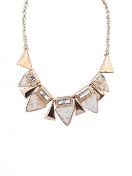 Latest Occident OL Style Geometry Triangle Elegant Hot Sale Necklace