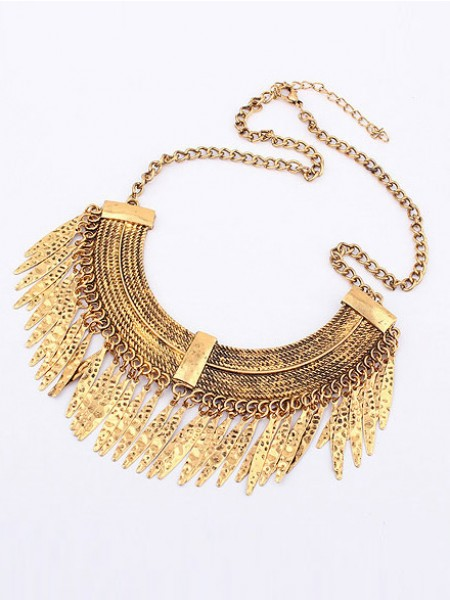 Latest Korean version Retro Arcuated Willow pattern Water Drop Hot Sale Necklace