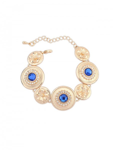 Latest Occident Fashionable Popular Round Plate Hot Sale Bracelets