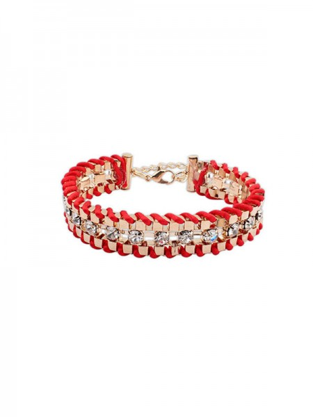 Latest Occident Ethnic Customs Woven Rhinestone Hot Sale Bracelets