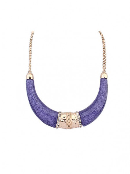 Latest Occident Hyperbolic Ethnic Customs Semi-arc Hot Sale Necklace