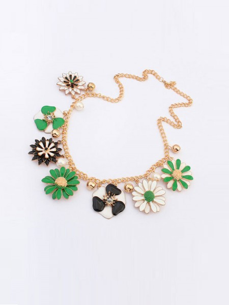 Latest Occident Celebutante Luxurious Flowers Daisy Hot Sale Necklace