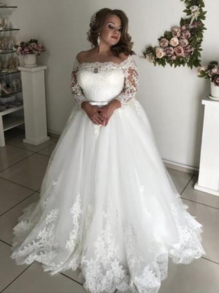 ca4d3fa3779 ... Ball Gown Wedding Dresses. Sale Price   182.00. Market Price   513.00.  A-Line Princess Off-the-Shoulder Long Sleeves Sweep Brush Train ...