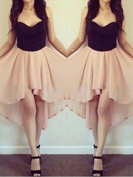 A-Line Sweetheart Chiffon Short/Mini Homecoming Dresses