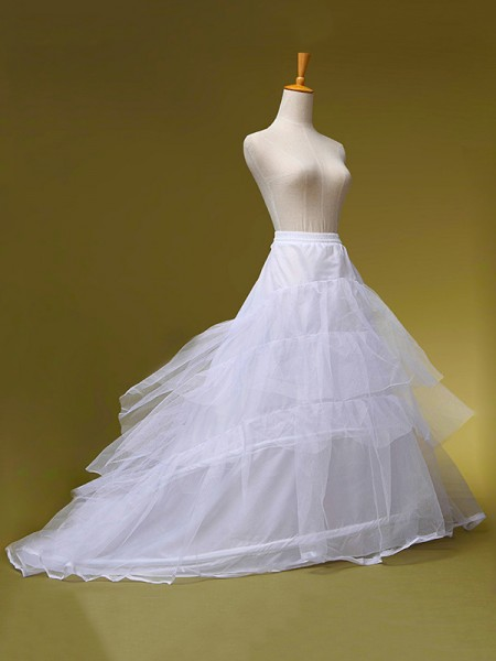 Fashion Tulle A-Line 2 Tier Sweep/Brush Train Wedding Petticoats