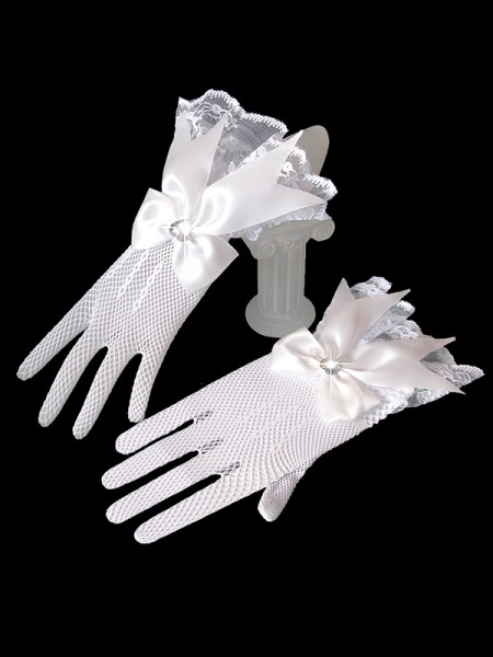 Fashion Attractive Tulle Bowknot Wedding Gloves