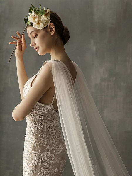 Fashion Charming Tulle One-Tier Cathedral Bridal Veils