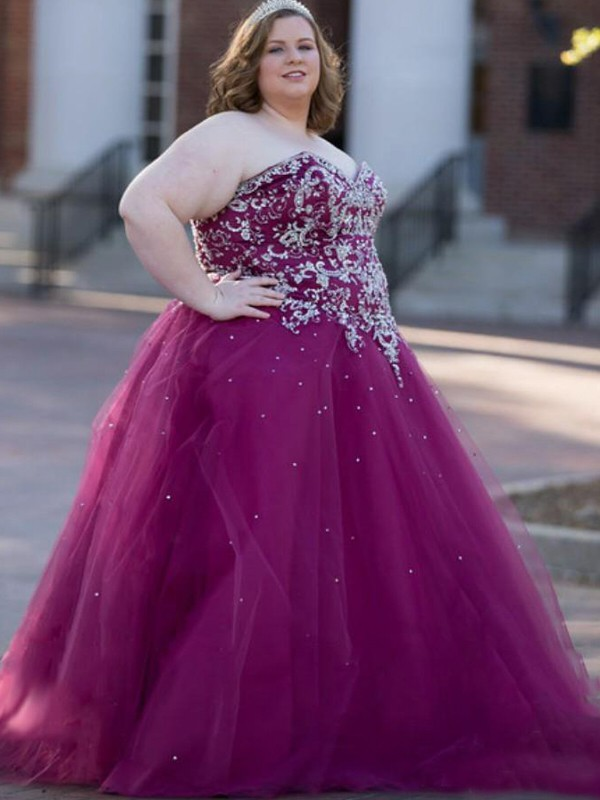 Grape Plus Size Prom Dresses - FabMiss